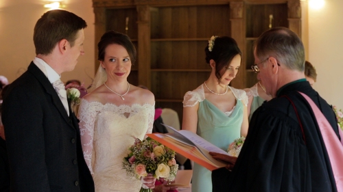 Carberry Tower Wedding Video-26