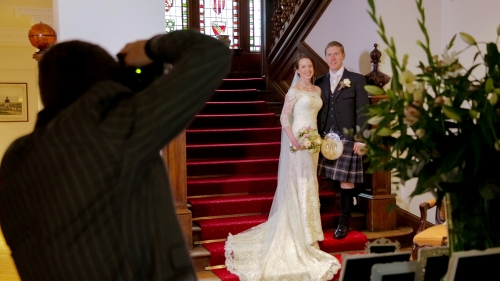 Carberry Tower Wedding Video-45